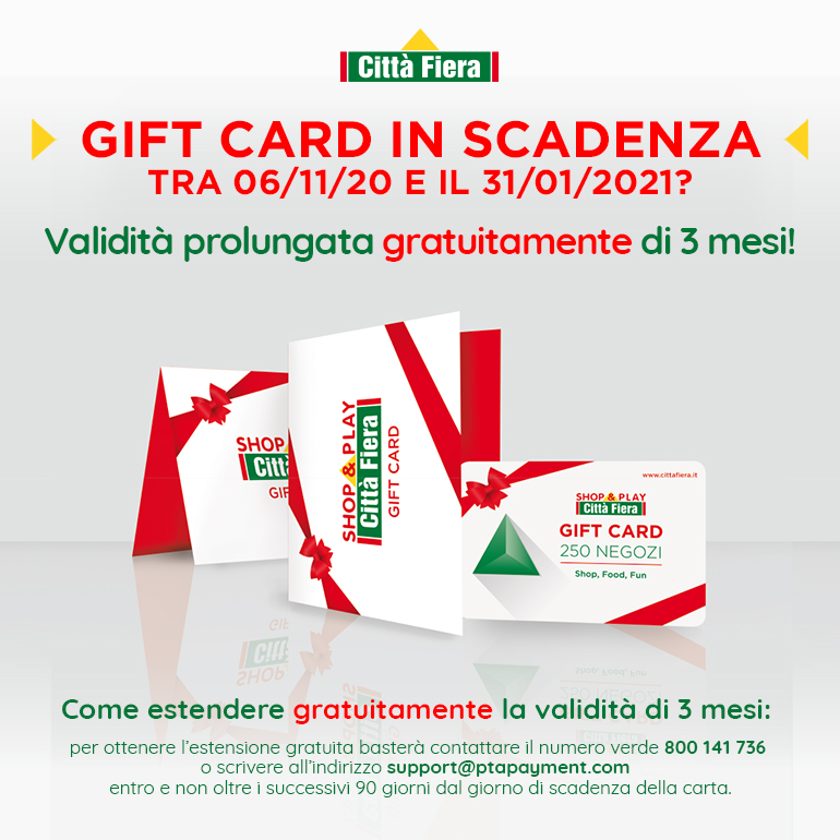 Gift Card in scadenza?