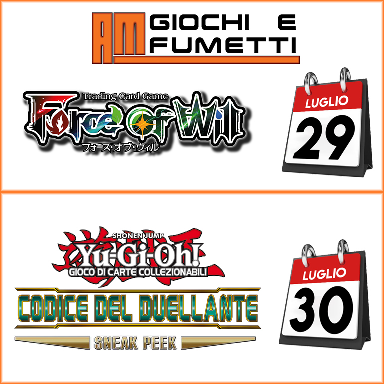 Iscriviti ai tornei di Yu-gi-oh e Force Of Will