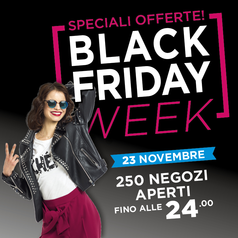23 novembre Black Friday a Città Fiera