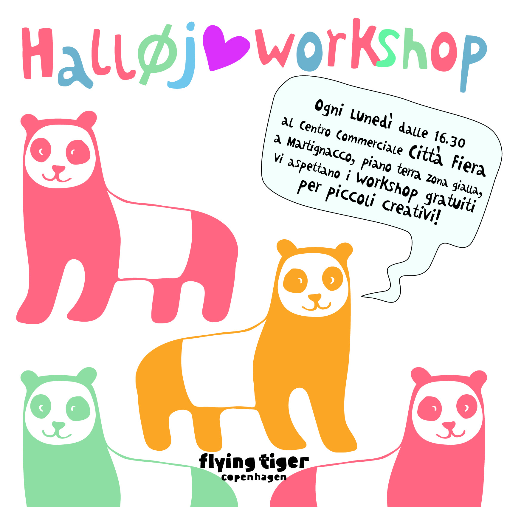 Workshop creativi da Flying Tiger Copenaghen