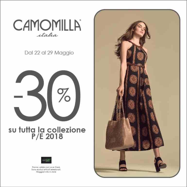 0aecae945 Solo per te -30% su tutta la collezione Camomilla Italia